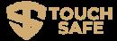 Touch Safe Brass Keychain logo